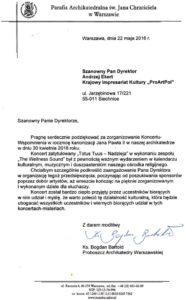pismo uwiarygadniające 2019 Warszawa